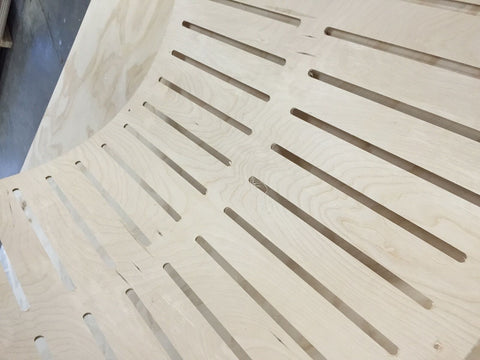 Like Butter Curved Ply CNC Routing Detail