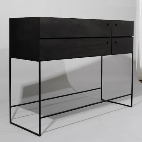 Like Butter Black Plywood Console Custom Furniture
