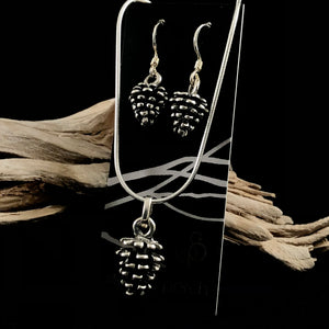 Pinecone Sterling Silver Set