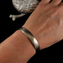 Load image into Gallery viewer, Sterling Silver Etched Cuff Size Small