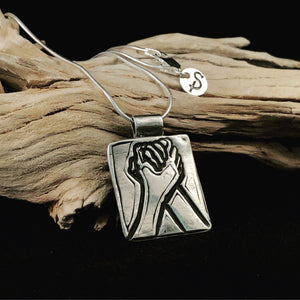 """Come Together"" Sterling Silver Pendant"