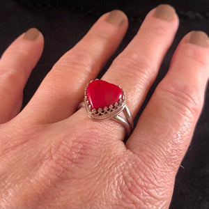 Queen of Hearts Rosarita Ring: Size 10