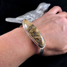 Load image into Gallery viewer, Utah Jasper + Sterling Silver Cuff Size Medium