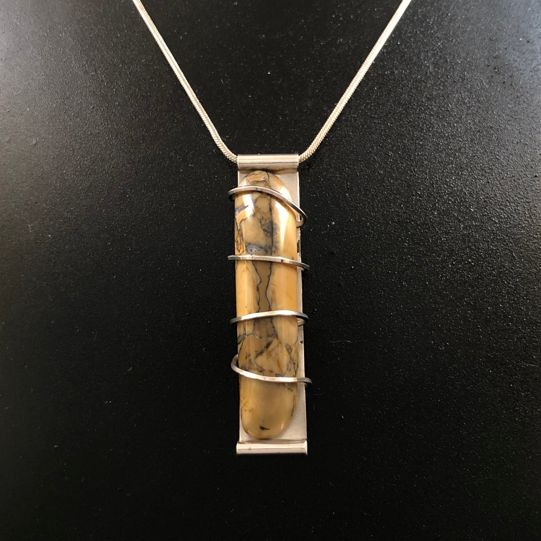 Utah Jasper + Sterling Silver Wrap Necklace