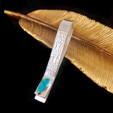 Load image into Gallery viewer, Just the Tip Turquoise Tie Bar