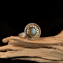 Load image into Gallery viewer, To The Moon Labradorite Ring: Size 8
