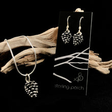 Load image into Gallery viewer, Pinecone Sterling Silver Set