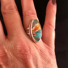 Load image into Gallery viewer, Turquoise & Bronze Composite Ring: Size 7