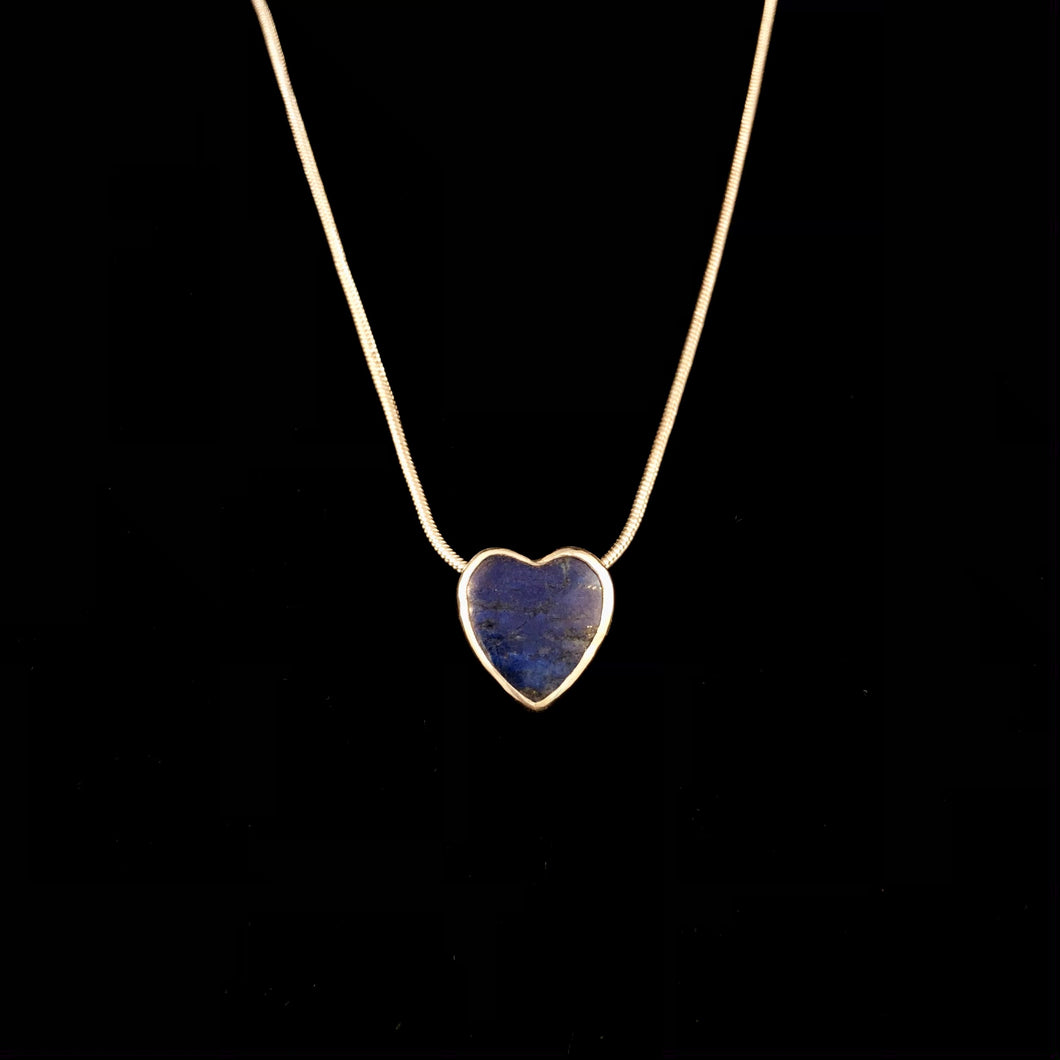 Little Lapis Heart Necklace