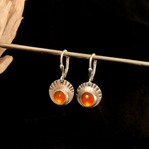 Fire Orange Opal Earrings