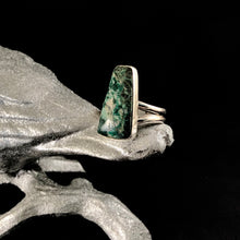 Load image into Gallery viewer, Chrysocolla + Sterling Silver Ring Size 10