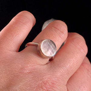 Round Mother of Pearl Rings