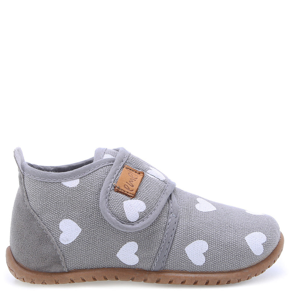 Emel slippers - Grey hearts (100-4)