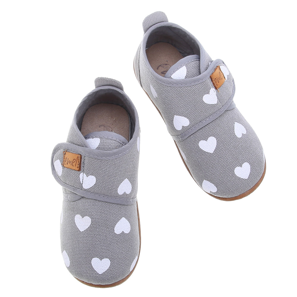 Emel slippers - Grey hearts - MintMouse (Unicorner Concept Store)