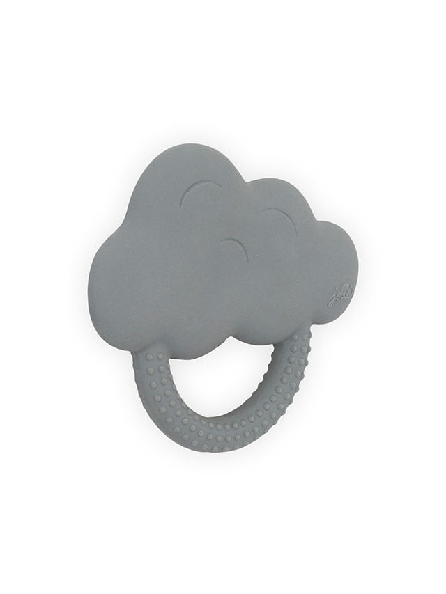 Teether 100% natural rubber - Grey cloud