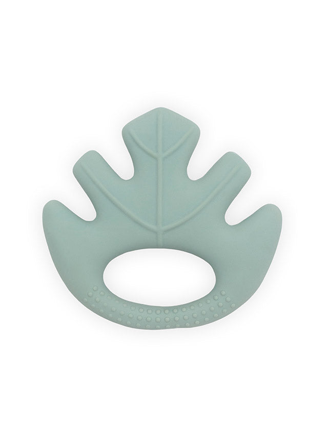 Teether 100% natural rubber - Green leaf