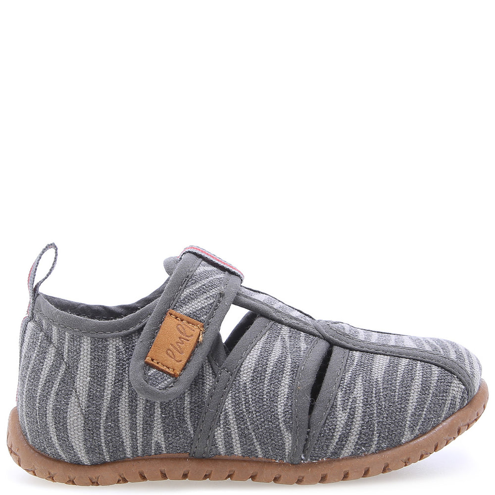 Emel slippers - Grey open zebra (101)
