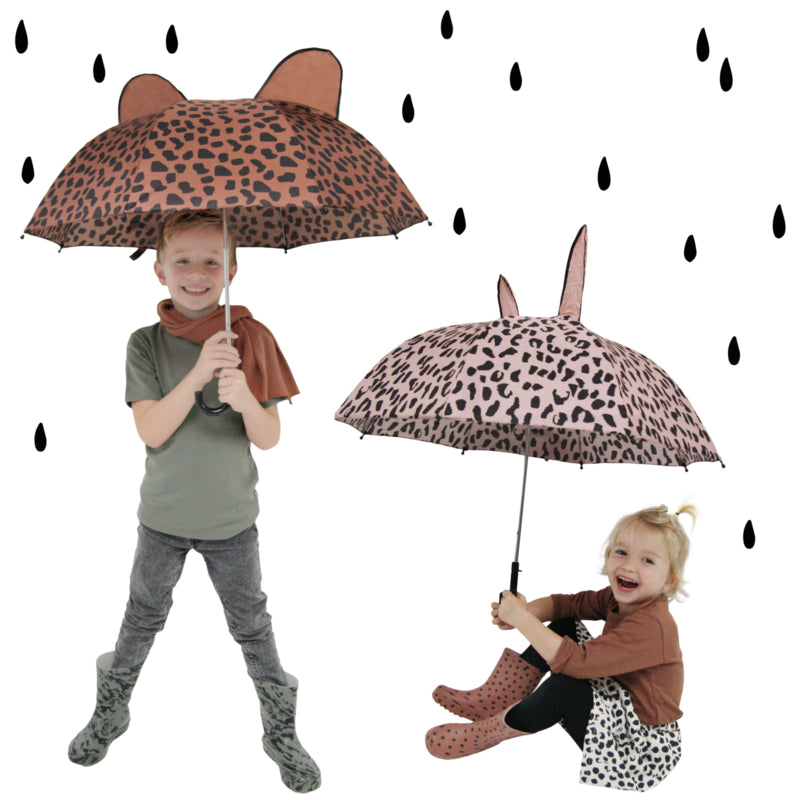Umbrella with ears - Caramel spots