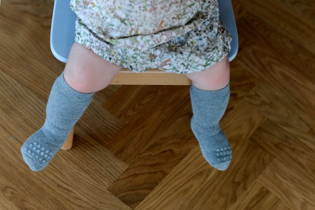 Anti-slip socks - Grey Melange