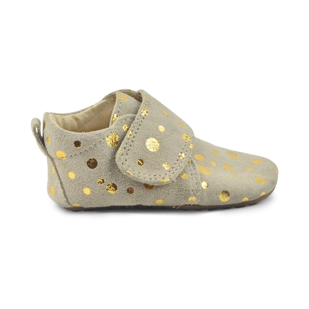 Pom Pom leather slippers - beige gold dot - MintMouse (Unicorner Concept Store)