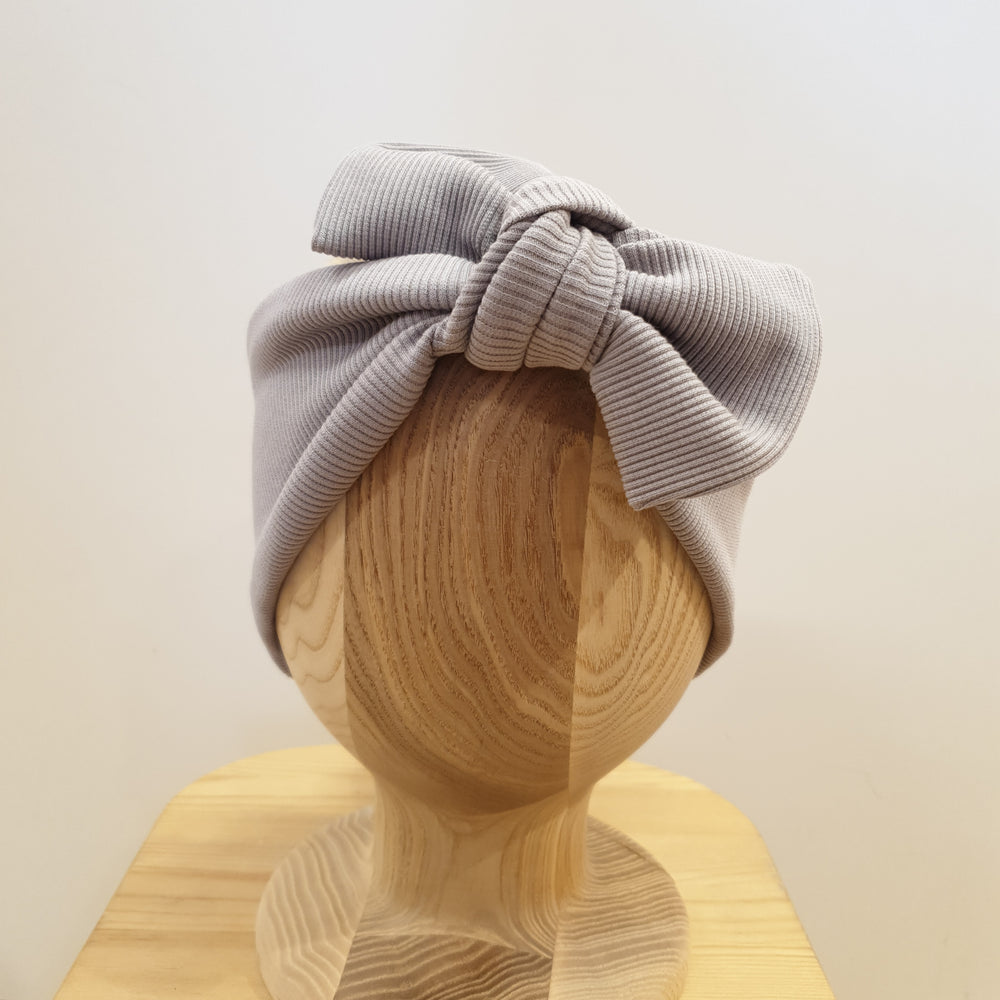 Ribbed headband - grey
