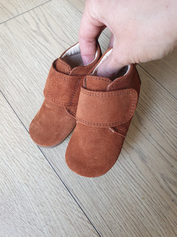 Pom Pom leather slippers - suede camel - MintMouse (Unicorner Concept Store)