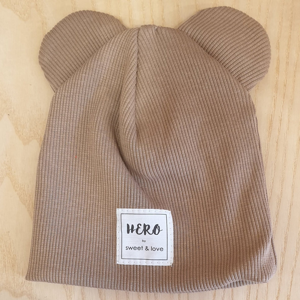 Winter bear beanie Cappuccino