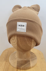 Winter folded bear beanie cappuccino