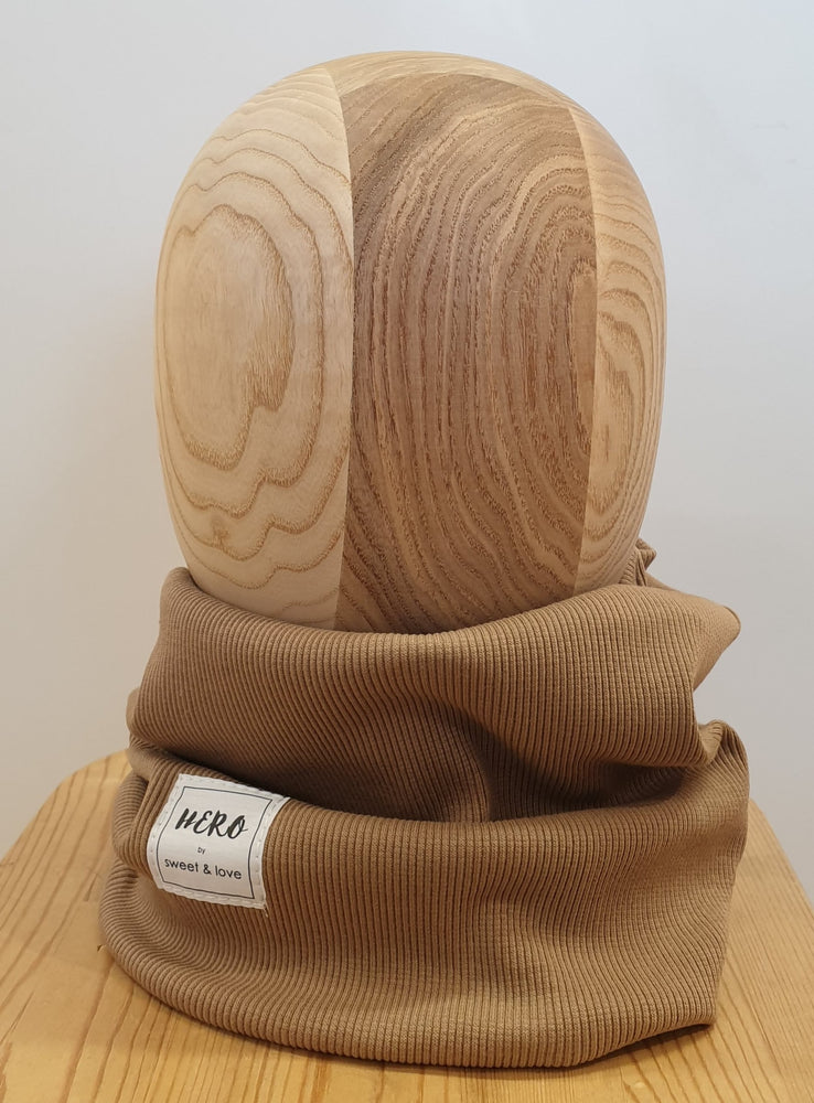 Ribbed tube scarf cappuccino