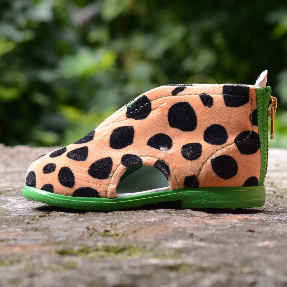 Cheetah Slippers Green - MintMouse (Unicorner Concept Store)
