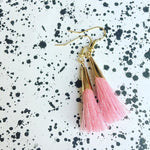 Tassle earrings gold / pink - MintMouse (Unicorner Concept Store)
