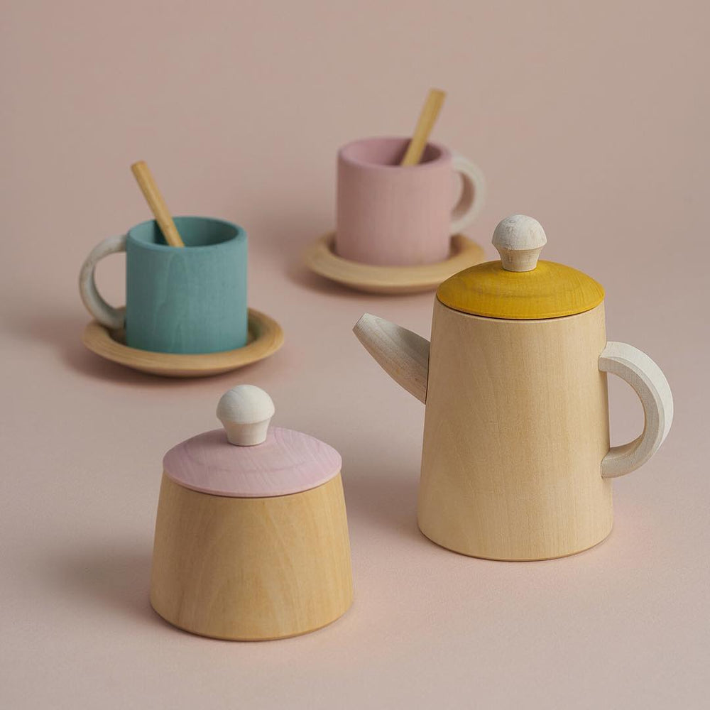 Wooden pastel tea set - Raduga Grez