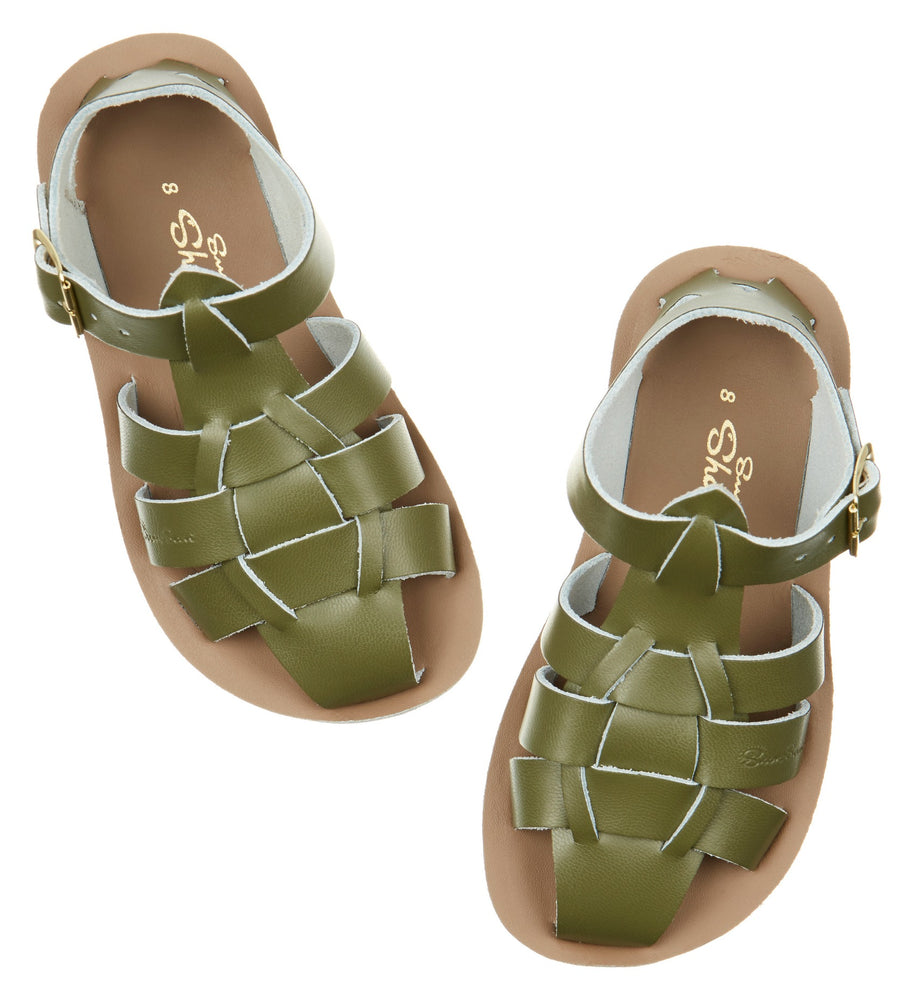 Salt-Water Sandal Shark - OLIVE