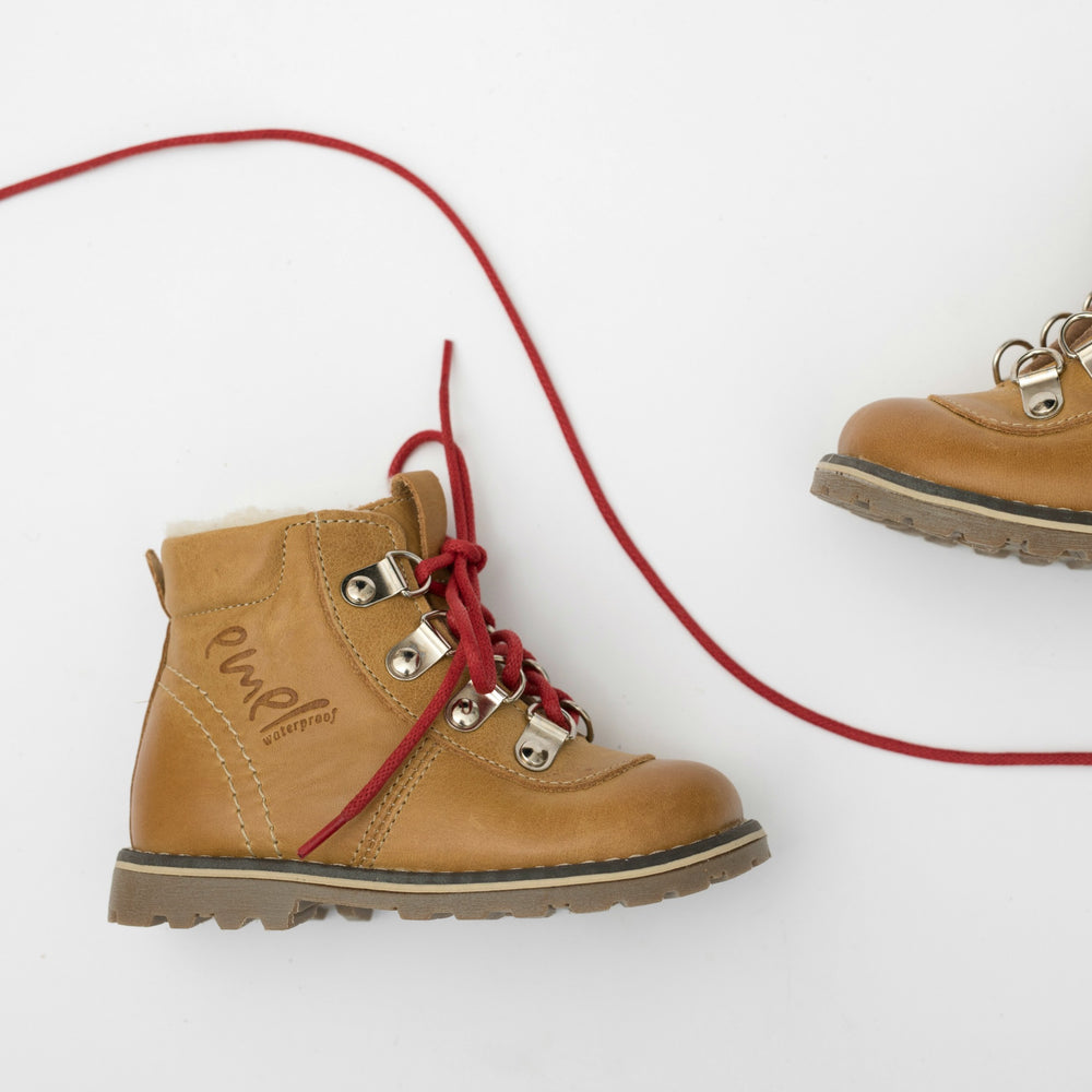 Emel yellow Lace Up Winter Boots with membrane (2545A-V2) - MintMouse (Unicorner Concept Store)