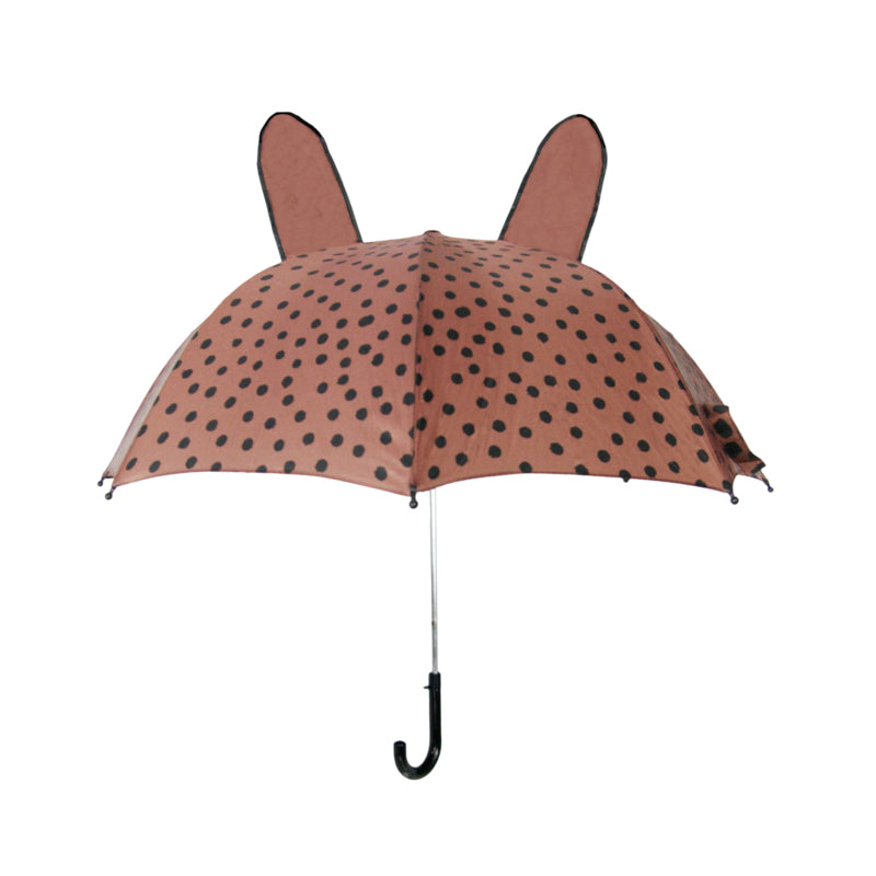 Umbrella with ears - Brown dots