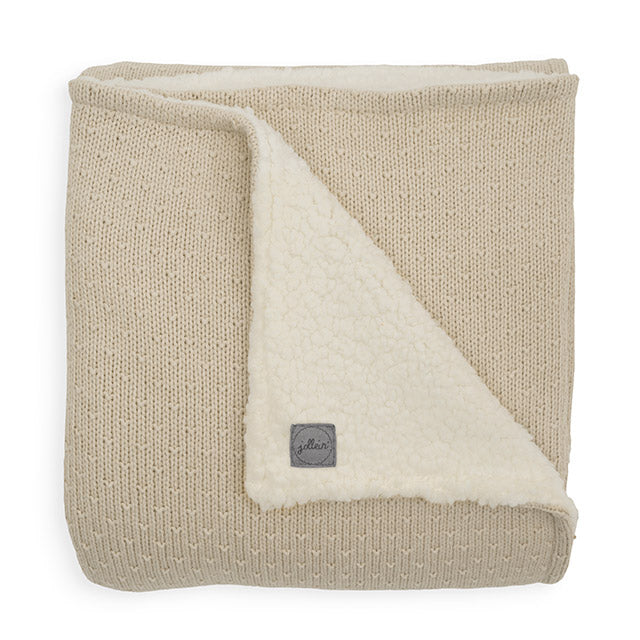 Baby blanket - Teddy bliss knit - Cream