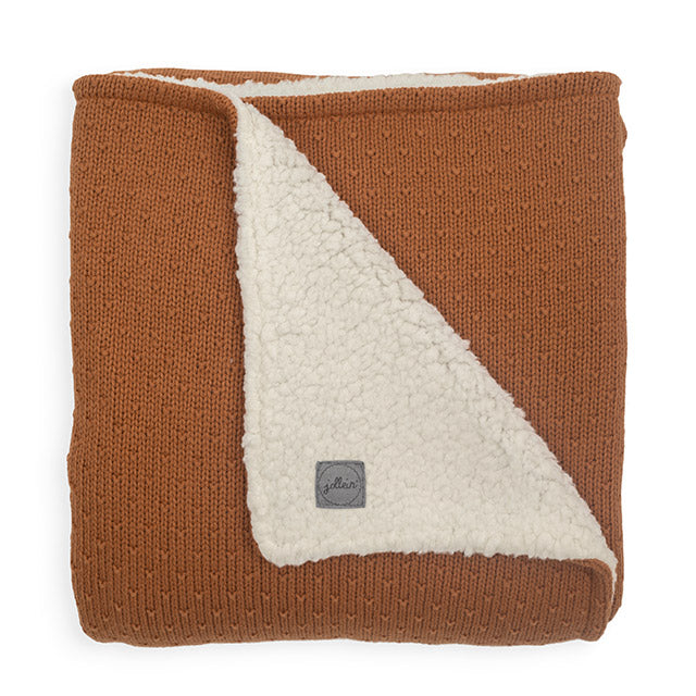 Baby blanket - Teddy bliss knit - Brown