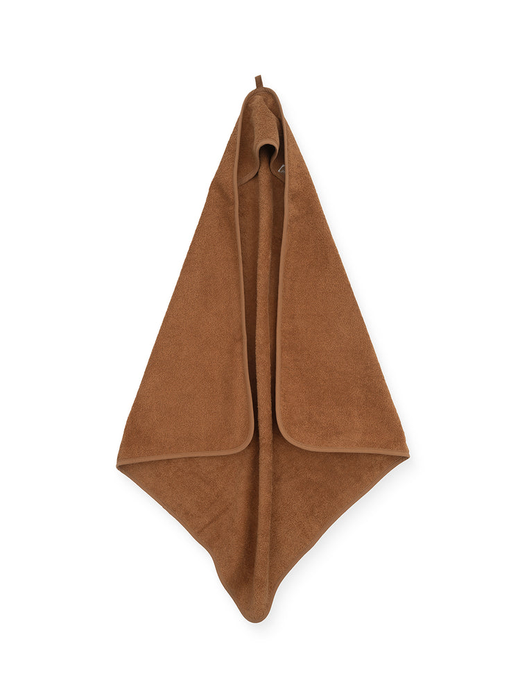 Hooded towel brown