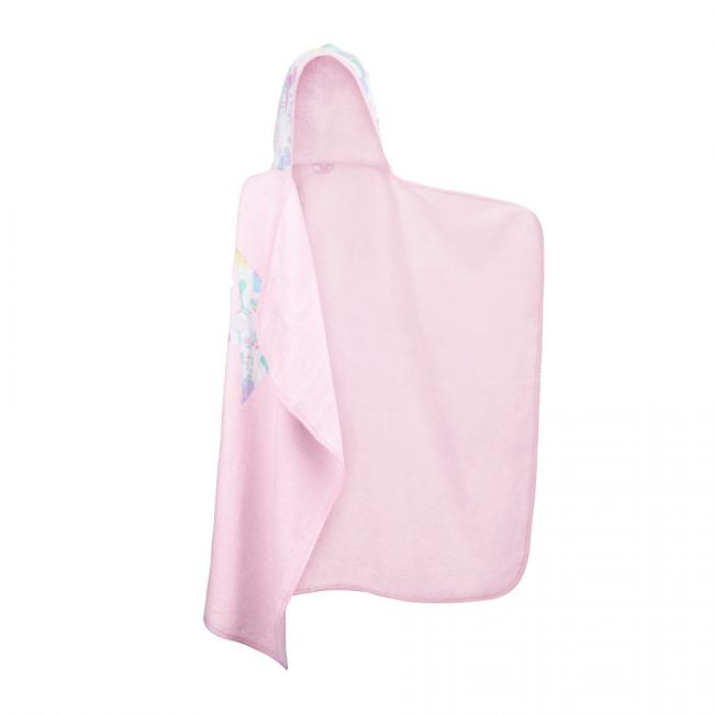 Bamboo Hooded Towel - Pink/feathers - MintMouse (Unicorner Concept Store)