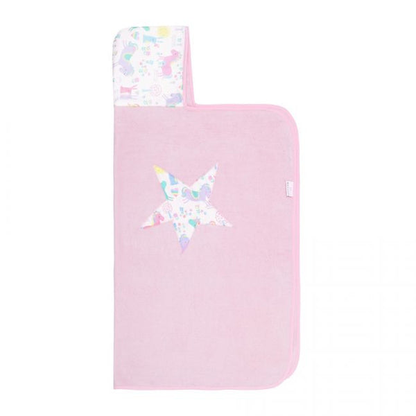 Bamboo Hooded Towel - Pink/Horses