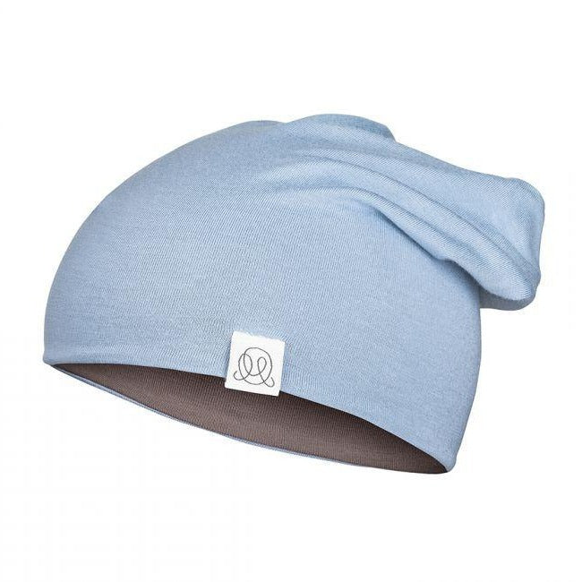 Reversable Bamboo Beanie - Sky Blue/Brown - MintMouse (Unicorner Concept Store)