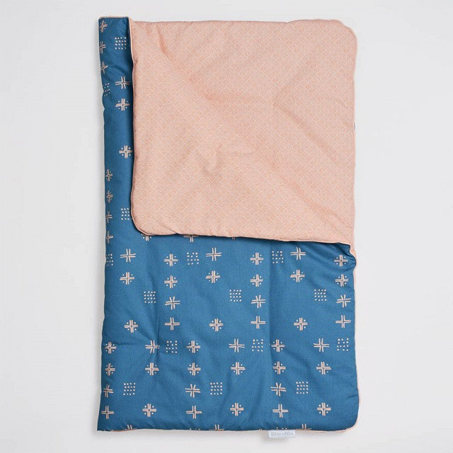 Double-sided Baby Duvet - Orange Blue