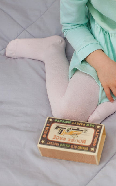 Organic cotton tights - Pink