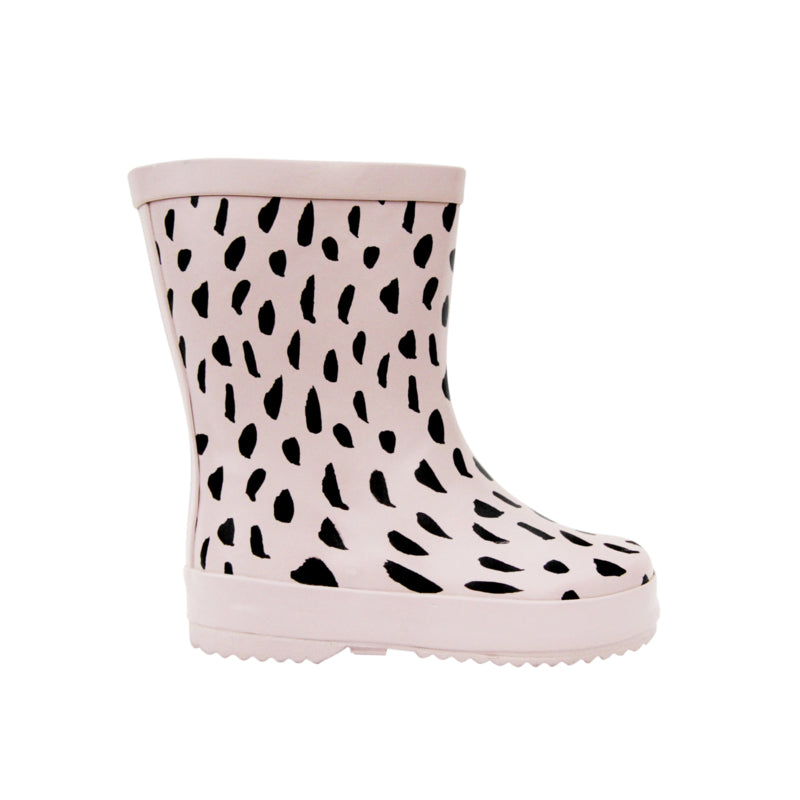 Blush pink freckled rainboots