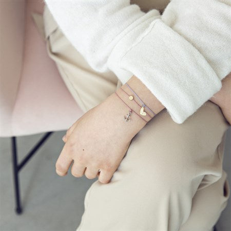 Bracelet Silk thread with gold anchor in old pink - MintMouse (Unicorner Concept Store)