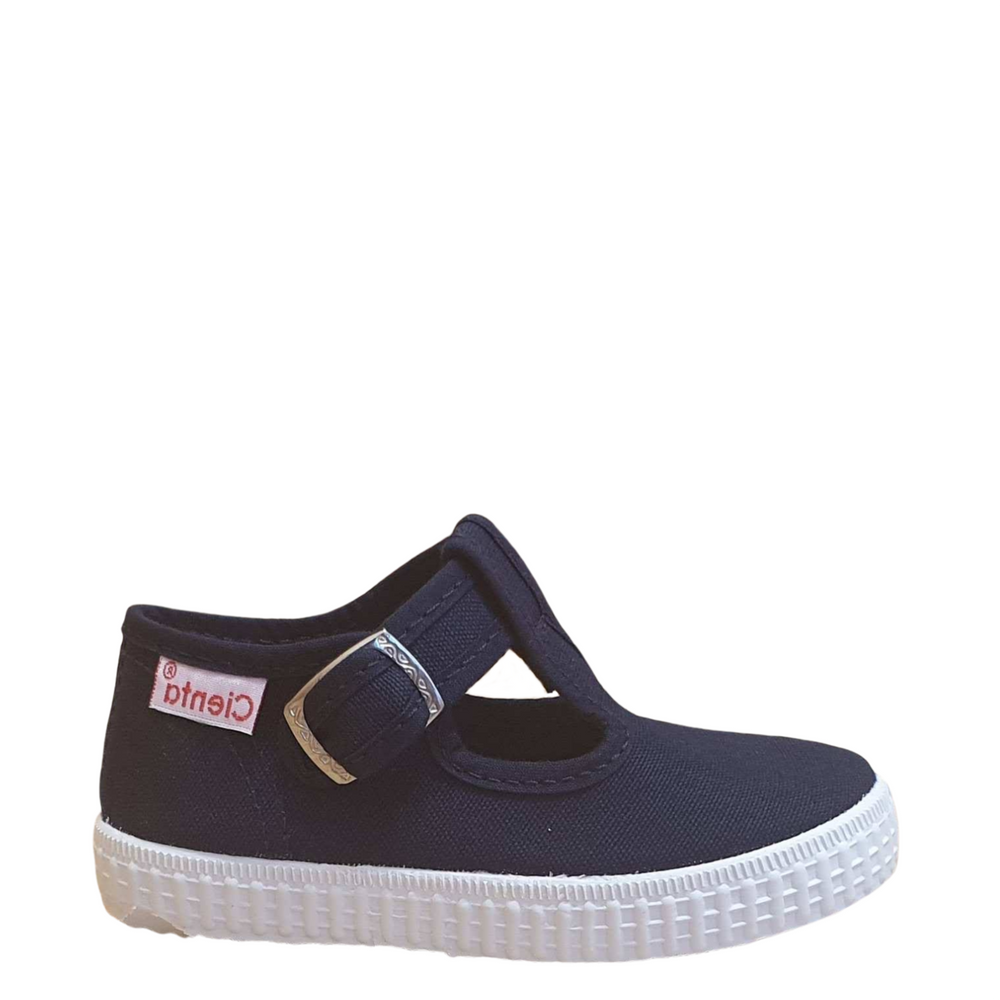 Cienta t-bar shoe with buckle - navy blue