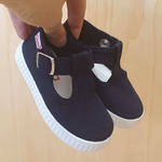 Cienta t-bar shoe with buckle - navy blue - MintMouse (Unicorner Concept Store)