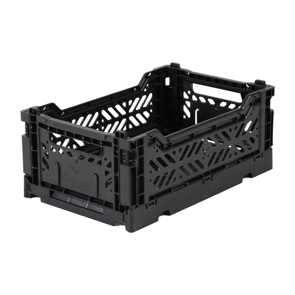 Folding crate Minibox - Black