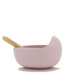 Silicone suction bowl - light pink