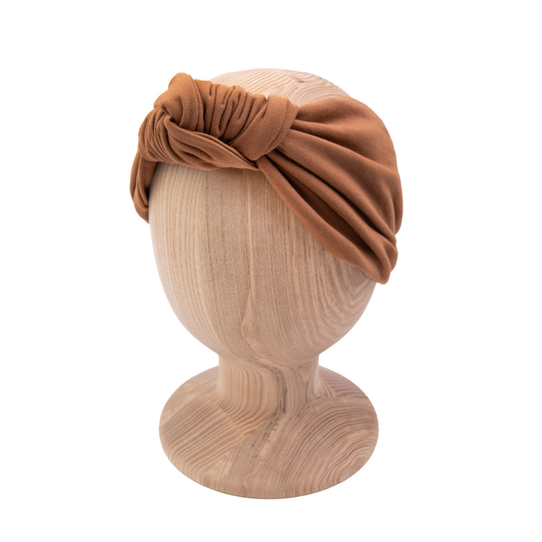 Knot headband - Caramel brown